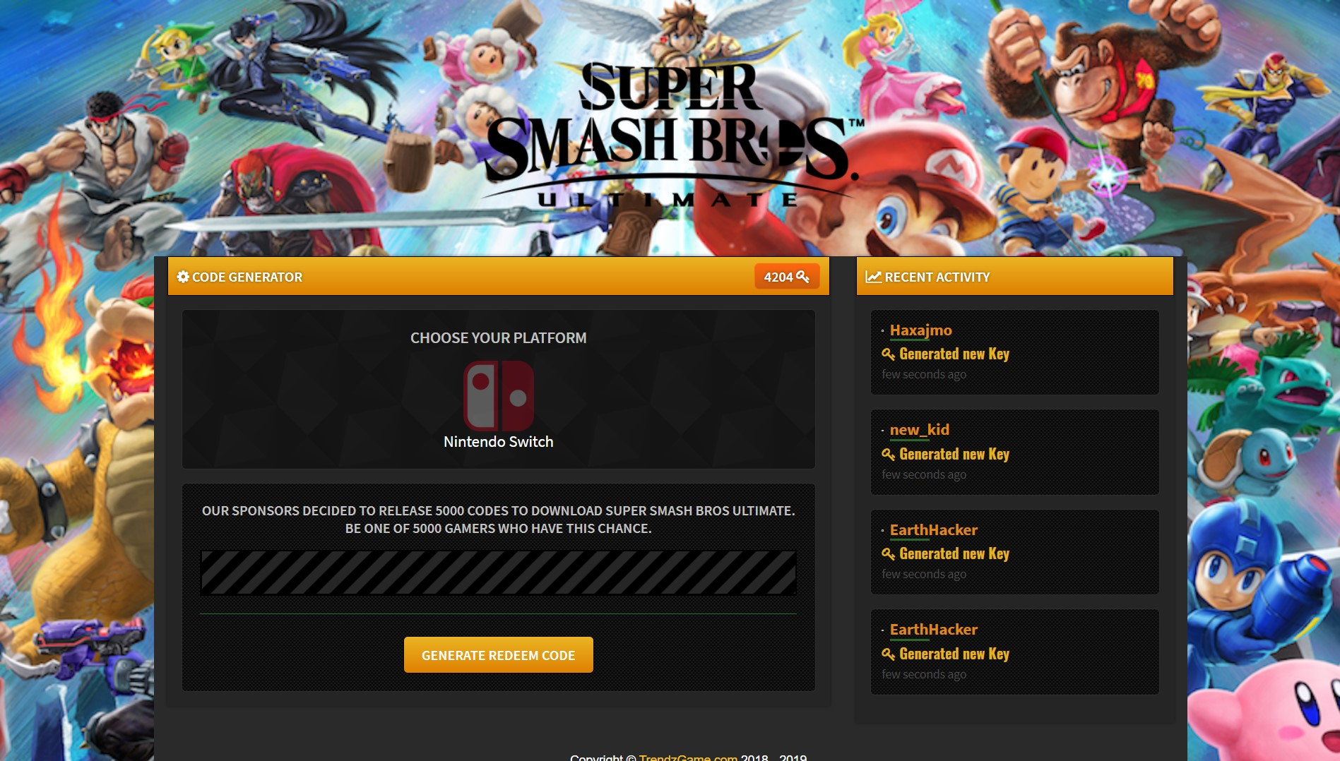 Super Smash Bros Ultimate Redeem Code