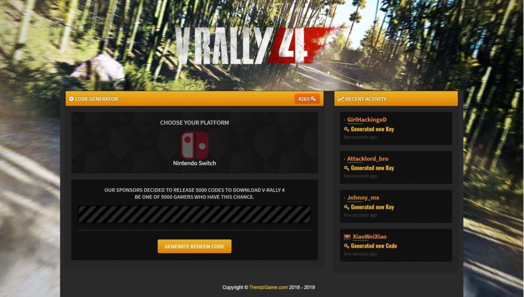 V-Rally 4 Switch Download Code